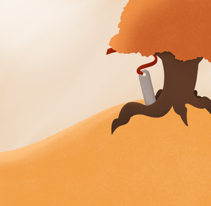 Just put a tree in the desert by AutumnColorsFall