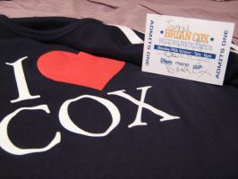 Brian Cox tshirt and autograph by jjferrit