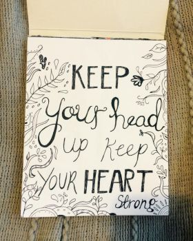 Keep your head up.  by daisymaydrawings