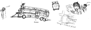 TvD: Bus sketches and Stagger by IrateResearchers