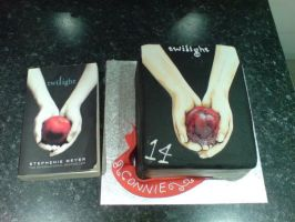Twilight Cake and Book by Catzombies