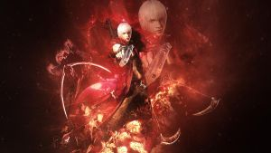 Devil may cry 3 Dante's Aura by TheSyanArt