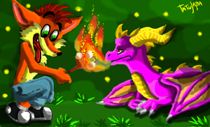 Crash and Spyro :Tatujapa by 170294