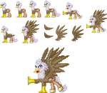 Pony Sprite of  April 2015: Silver Quill by akumath