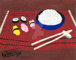 Sushi and Rice by EmeraldTokyo