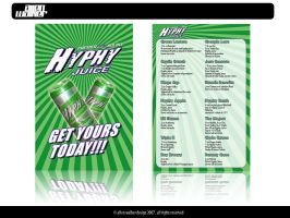 Hyphy Juice drink mix flyer 2 by 5MILLI