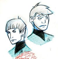 Star Trek - Spock and McCoy by LaCidiana