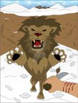 Lion attack by JK-Antwon