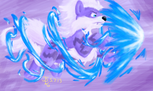 Colors 3D - Arctic Arcanine by Ethereal-Aquamarine