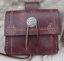 Medieval Belt Bag Celtic Circl by EarthlyLeatherDesign