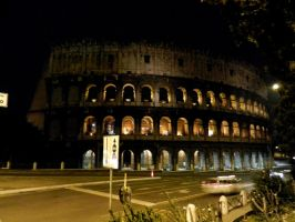 Colosseum at night by Landskapers