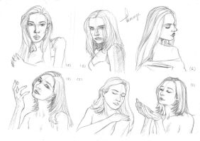 Female Face Study 2 by Arineange
