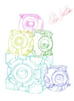 Personality Cores Sketch by DeviantDolphinART