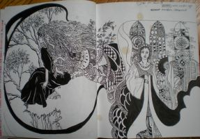 aaaand another sketchbook page by oliveowl