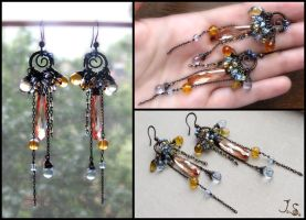 Clear autumn days earrings by JSjewelry