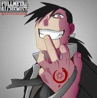 Greed Fullmetal Alchemist Brotherhood by mesiasart