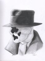 Rorschach portrait by RogueDerek