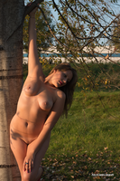 Lily nude in the park 01 by Darthsandr