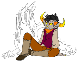 tavros stable boy by Textbookdoppelganger