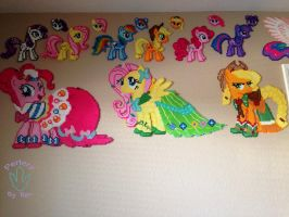 GGG Girls Pinkie Pie Fluttershy and Applejack by PerlerzByRex