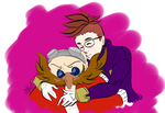 Request from ashle1 - Huggle time with the boss by Mx-Robotnik