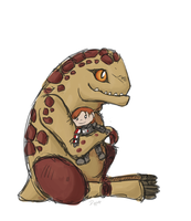 Baby Krogan by Eltharion