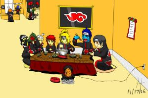 Akatsuki Dinner by The-Blue-Wind
