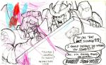 Scourge and Galvatron drawing by Petitron