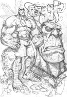 Sketch4:Sagat rough by Red-J