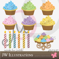 Cupcake Fun Pastels by jdDoodles