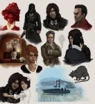 Dishonored doodles by Miklche04