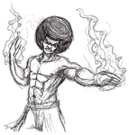 Afro Karateka by castiboy