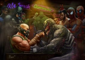 Bane vs Venom: Wrestling Addiction by PTimm