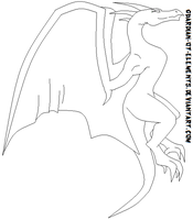 Free Dragon Lineart by Guardian-of-Elements