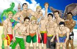 Justice League Beach fun Guys by joephillips