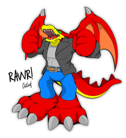 Dragon RAWR by OutLeaf