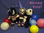Plushie Birthdy Party! by KabutoNosebleed