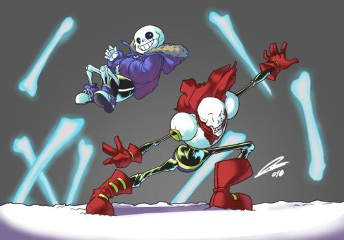 Sans and Papyrus by NuriaVelasco