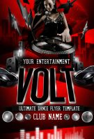 Volt PSD Flyer Template-Red by ImperialFlyers