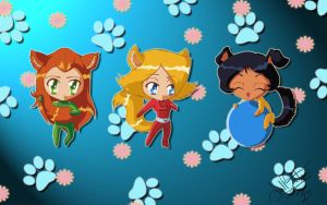 Totally Spies Chibi Pets by superjay15