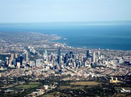 Aerial Melboune, Victoria by kayandjay100