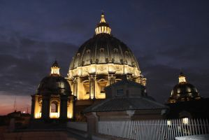 St.Peter cupola in the evening by zhuravlik26