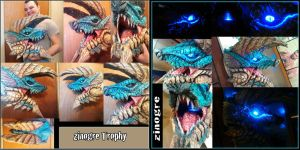 Monster Hunter Zinogre head finished by joshuasmith85