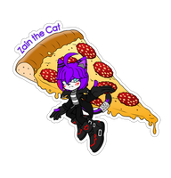 Comm. Food Sticker. Zain the Cat by 13VOin