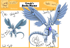 Blue eyes shining dragon redo meme by coolj229