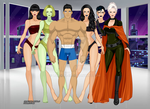 Clark Kent, the Female Furies and Granny Goodness by LordKal-El