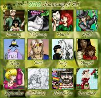 2012 Summary of Art for dragondoodle by dragondoodle