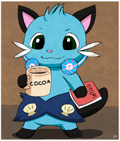 A dewott and his cocoa by pichu90