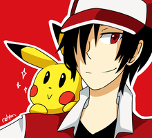 Red+Pikachu by relyon
