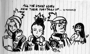 Rules of Naruto - Ponytails by natsumi33